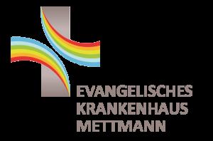 Das Bild zeigt das Logo des Evangelischen Krankenhaus in Mettmann. Ein Kooperationspartner der Praxis für Familiengesundheit in Essen und Krankenhaus in Mettmann