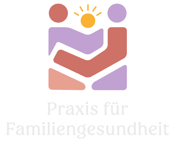 Das Bild zeigt das Logo der Praxis für Familiengesundheit Essen. MVZ für Innere Medizin, Endokrinologie, Diabetologie und Kinder- und Jugendpsychiatrie und -psychotherapie